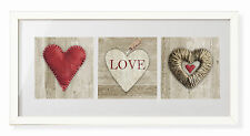 Love Heart Love Home Shabby Chic Vintage Style Framed Print Picture Wall Art