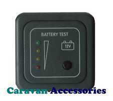Prueba de nivel de tensión de la batería PANEL INDICADOR CARAVANA CAMPER BARCO 12 V CBE,