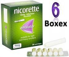 Nicorette 15mg Inhalator 36 Cartridges Pack oF 6 +Fast Dispatch Expiry 11/2023