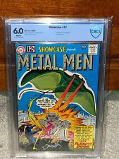 Showcase #37 CBCS 6.0 DC 1962 1st Metal Men! WP! Free CGC Mylar! G11 L2 cm clean