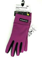 Burton Youth Girls Touch N Go Liner Gloves Size Medium Grapeseed NEW