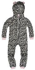 Girls Animal Bodysuit New Kids Soft Microfleece All In One Pyjamas Age 2 - 3 Yrs