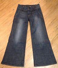 Hudson Jeans 28 Wide Leg Dark Wash Wide Wastband 107906 00635