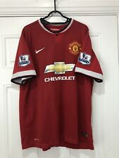 2014-15 Manchester United Home Shirt - XL -*v.Persie 20 On Back + Patches*