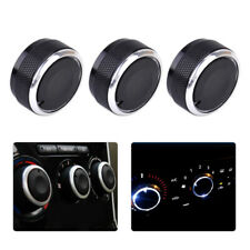 3 Pcs Aluminum Alloy Air-Conditioning A/C Knobs Switch Fit for Mazda3 Mazda 3 se