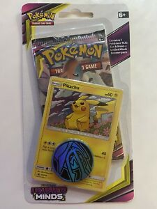 Pokemon Cards Sun & Moon Unified Minds Sealed Booster Blister Pack - Pikachu