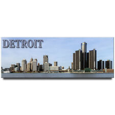 Michigan travel souvenir Detroit panoramic fridge magnet