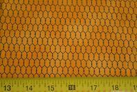 By 1/2 Yd, Black on Gold Quilting Fabric, Saltbox Farm/Deb Strain//Moda, N995