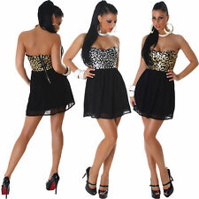 Bandeau Polyester Animal Print Dresses for Women
