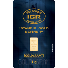 1 gram IGR Istanbul Gold Refinery gold bar one g 999.9 fine