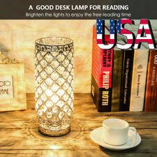 Modern Crystal Table Light Bedside Bedroom Living Room Nightight Lamp Home Decor