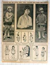1915 Fashions For The Little Ones: What Children Will Wear This Summer