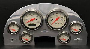 1956 Ford Car 6 Gauge Dash Panel Insert Polished Aluminum Programmable Shark