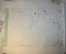 Vintage USGS Map Fredenburg Lake, WI 1973