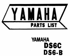 1970 Yamaha DS6B DS6C Motorcycle Parts List Manual Guide