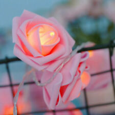 20 Pink Rose Bud Flower LED Light Sting 3m Wedding Party Event table room decor