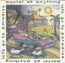 MENTAL AS ANYTHING Let's Go To Paradise PIC SLEEVE 45 + juke box strip BRAND NEW