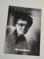 Martina Hingis Bolle Card - Signed by Martina Hingis -World's No 1 Female Player