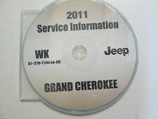 2011 JEEP GRAND CHEROKEE Service Shop Repair Manual CD DVD BRAND NEW FACTORY