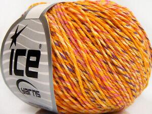 Lot of 4 x 100gr Skeins Ice Yarns WAYUU Hand Knitting Yarn Salmon