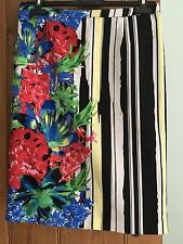 Brand New Black Red And Lemon Summer Pencil Skirt By Next Size 10