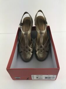 Brand New Rockport Cobb Hill Pewter T-Strap Sandsl Size 9.5