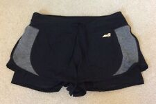 Women's Avia 2 In 1 Athletic Workout Shorts Black And Gray Medium