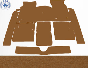 Carpet Set Carpet for Fiat 124 Sport Coupe Year 1967–1972 Velour Dattel
