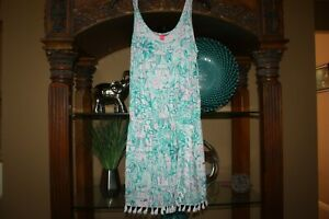Lilly Pulitzer Jarrett Romper Agate Green Camelflage Womens Sze Small S