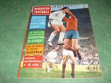 Miroir du Football n°36 Novembre 1962 Benfica Reims RC Paris SO Montpellier T.B+