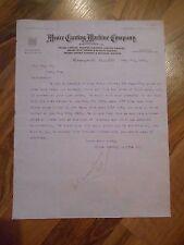 Antique 1903 Moore Carving Machine Co. Lochman Minneapolis Minnesota Letter Adv.