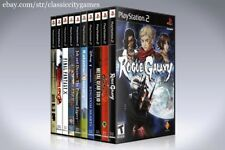 NEW custom PLAYSTATION 2 storage case YOU CHOOSE THE TITLE -No Game- Single PS2
