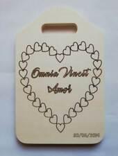 BOMBONIERA Matrimonio TAGLIERE in legno personalizzato con frase e tema wedding