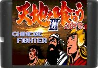 Chinese Fighter III 16 Bit Game Card For Sega Genesis / Mega Drive System