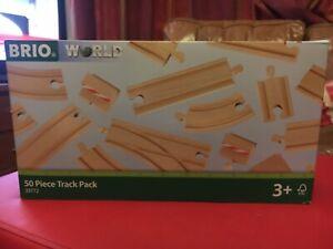 BRIO World 33772 50pc Track Set for Wooden Train Set