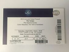 USED THE VAMPS TICKET STUB @ O2 ARENA, LONDON 2nd APRIL 2016 - MINT CONDITION