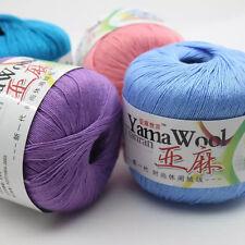 wholesale 50g Cobweb linen lace making Milk cotton Wool Knit Crafts Crochet Yarn