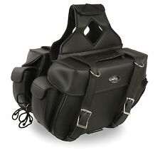 Medium Size Throw Over Waterproof Saddle Bag for Harley, Honda Series Bikes