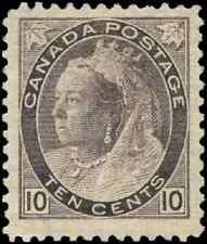 Canada #83 mint F-VF OG HR 1898 Queen Victoria 10c brown violet Numeral