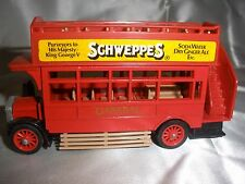 Vintage Matchbox Models of Yesteryear Y-23 1922 AEC TYPE S OMNIBUS (SCHWEPPES)