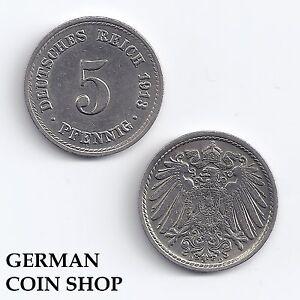 5 Pfennig 1890 - 1915 A D E F G J Kaiserreich