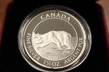 2013 $8 FINE SILVER COIN POLAR BEAR 1 1/2 OZ OF SILVER 99.99% BULLION