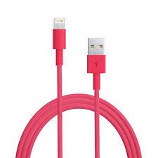 Chargeur pour iPhone x 8 7 6 6s Plus 5c 5s SE Cable Data iPod iPad Pro Mini air Rouge
