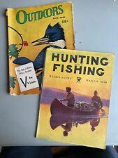 2 Vintage Hunting-Fishing Magazines - 1934 & 1942