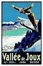 Vallée de Joux Jura Suisse 1020 M Panneau Métallique Plaque en Étain 20 X 30 CM