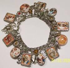 Retro Vintage Thanksgiving Autumn Theme Charm Bracelet Hand