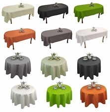 Tischdecke Gartentischdecke abwaschbar Tischläufer Leinen Optik Rechteckig Rund