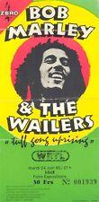 ticket de concert Bob MARLEY