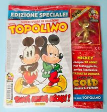 Topolino N.3286 + Figurine Gold - Edition Spécial 90 Ans Mickey Mouse