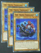Set 3X  TRE TROLL TROLLANTI  Comune in Italiano  FLOD-IT030 YUGIOH